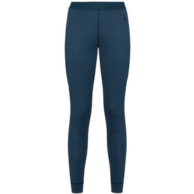 Odlo Natural 100% Merino Warm Suw Bottom Pants Women blue wing teal
